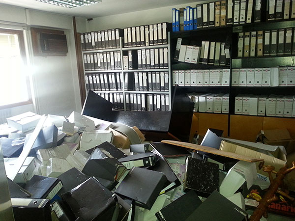 Archivos a destruír
