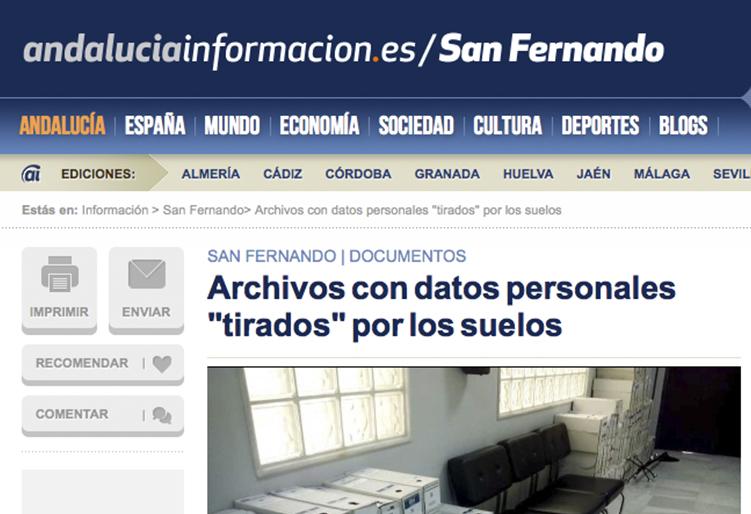 """Archivos con datos personales """"tirados"""" por los suelos"""